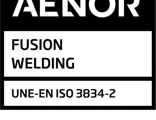 Garsán obtiene la certificación UNE-EN ISO 3834-2 «Requisitos de calidad para el soldeo por fusión de materiales metálicos. Requisitos de calidad completos